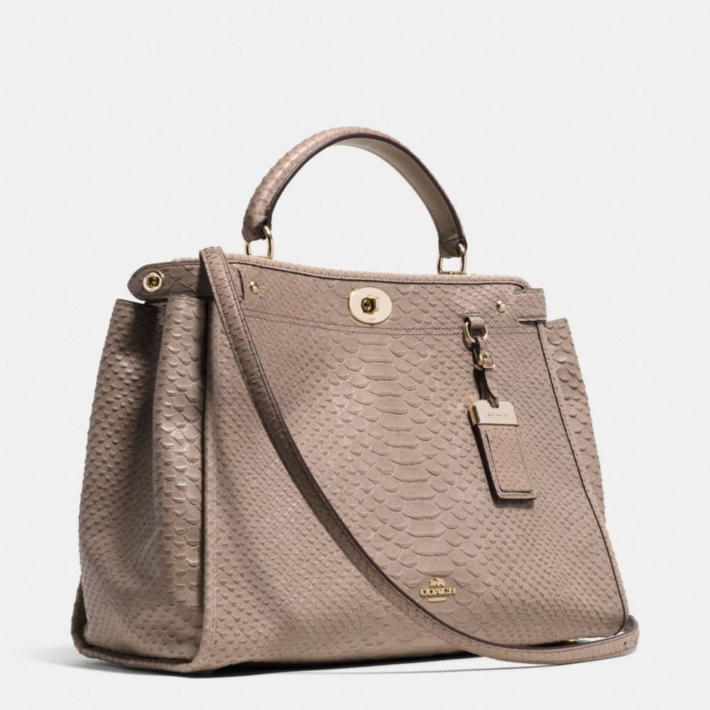 GRAMERCY SATCHEL IN EMBOSSED PYTHON LEATHER - Alternate View A2