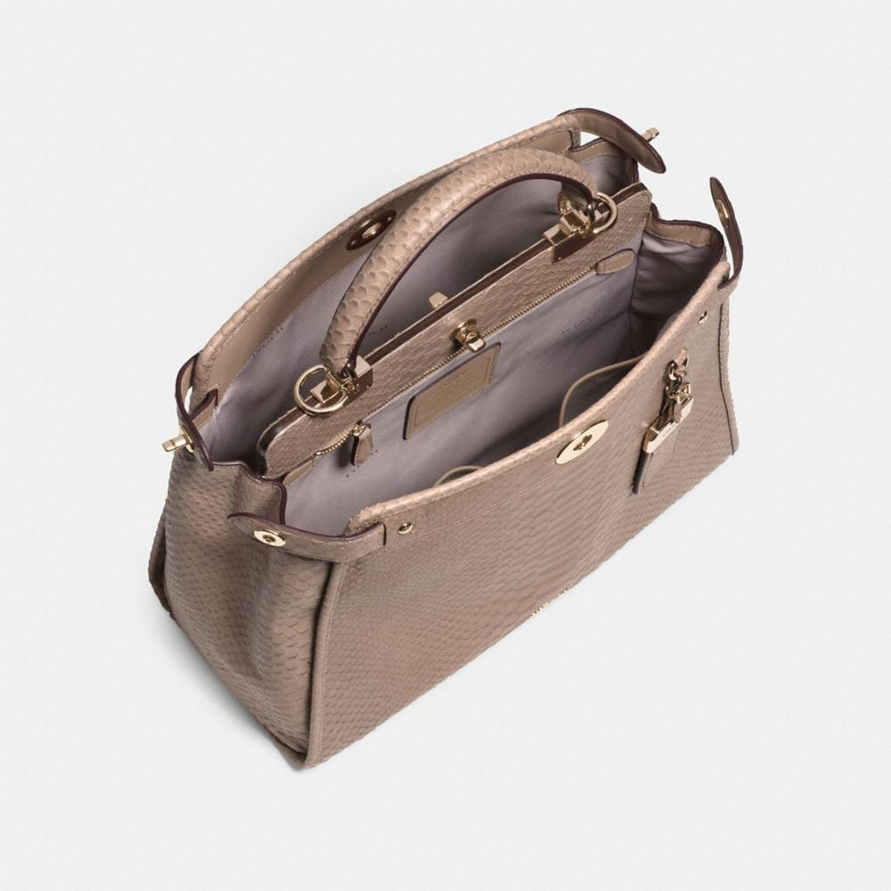 Gramercy Satchel in Embossed Python Leather - Autres affichages A3