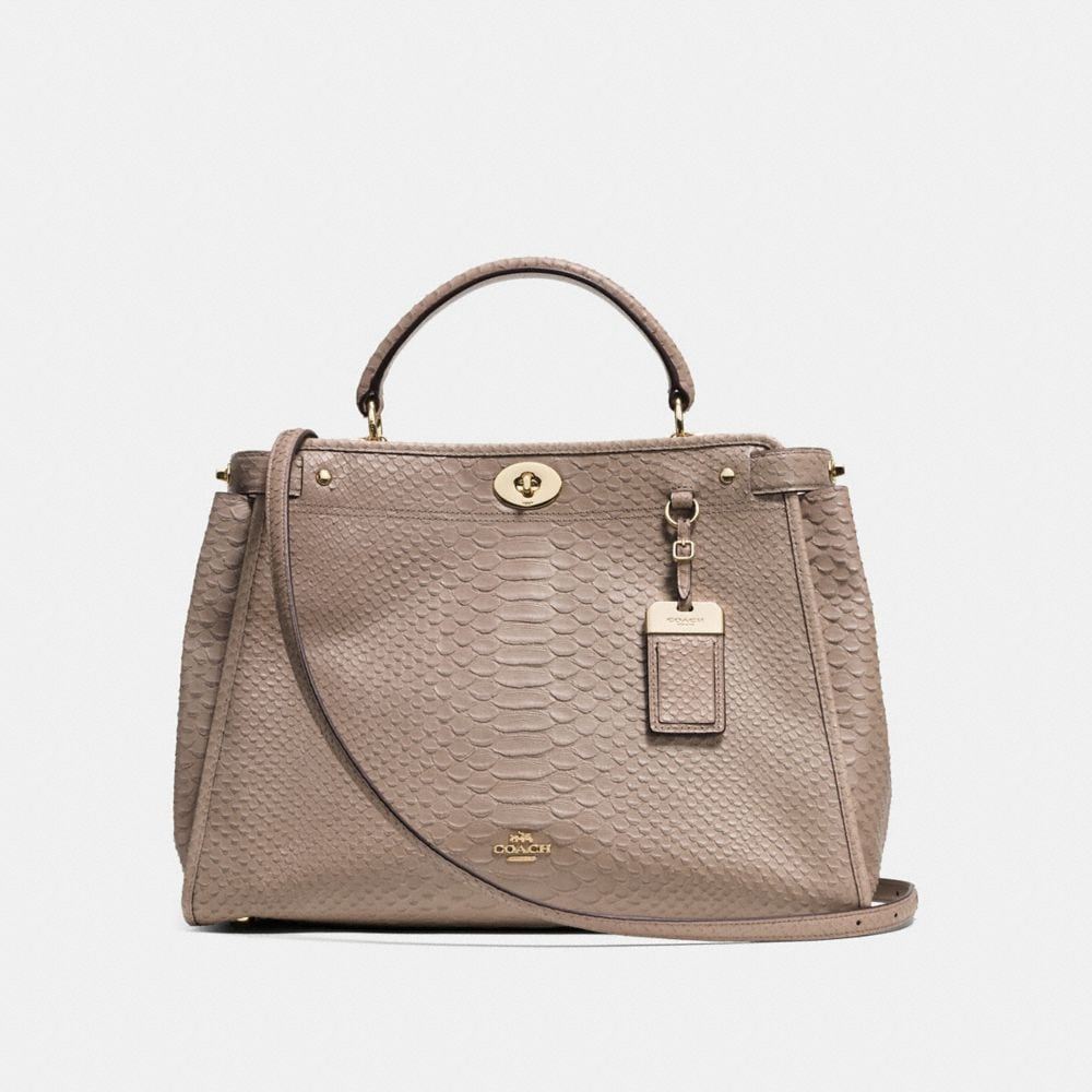 Gramercy Satchel in Embossed Python Leather