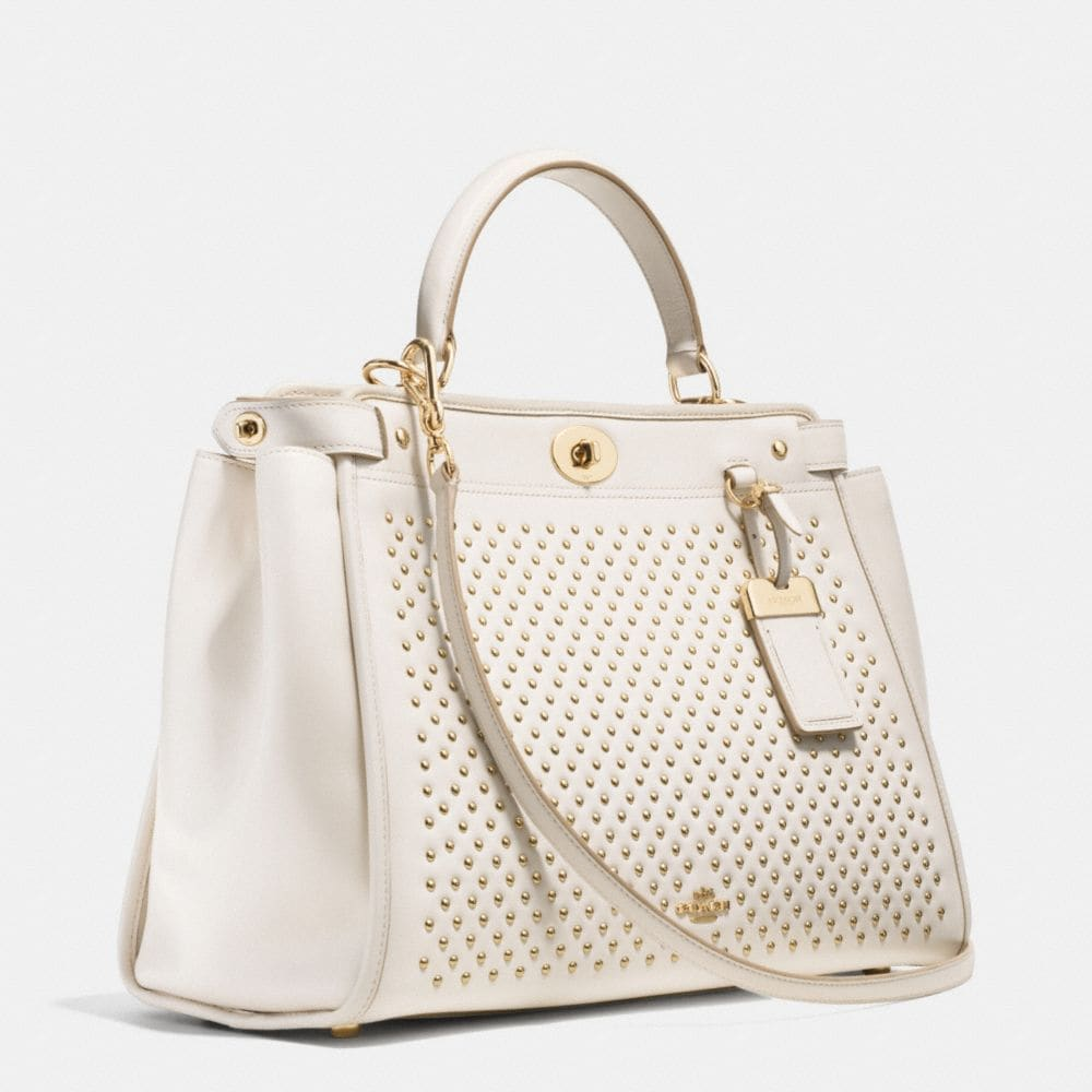 Gramercy Satchel in Studded Leather - Alternate View A2