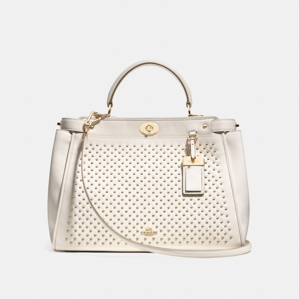 GRAMERCY SATCHEL IN STUDDED LEATHER