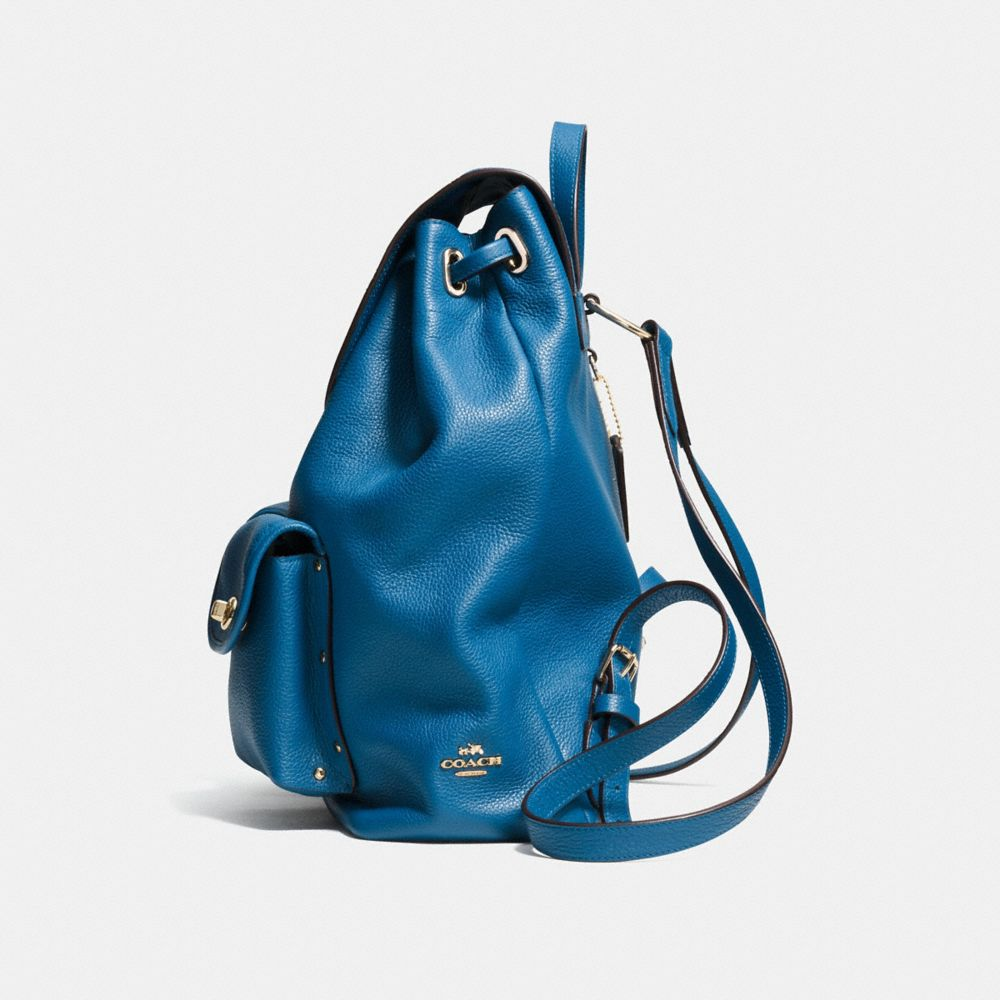 TURNLOCK TIE RUCKSACK IN REFINED PEBBLE LEATHER - Alternate View A1