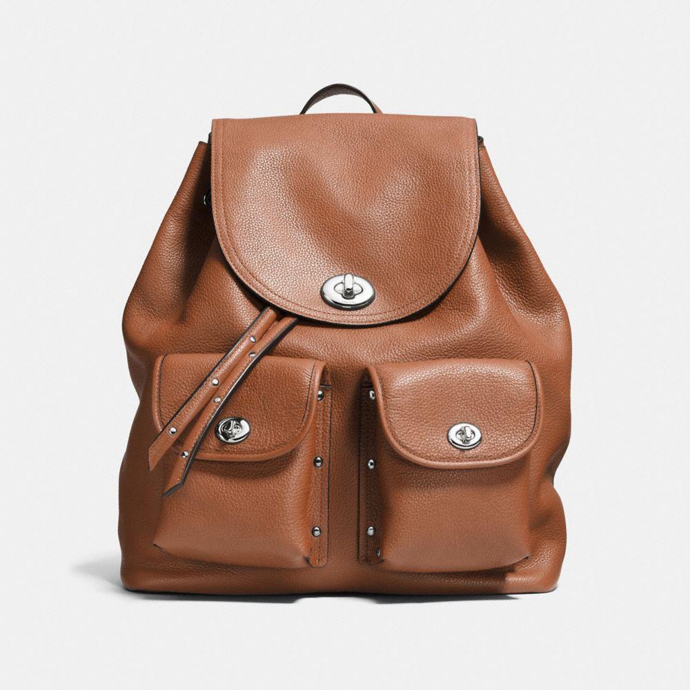 Turnlock Tie Rucksack in Refined Pebble Leather