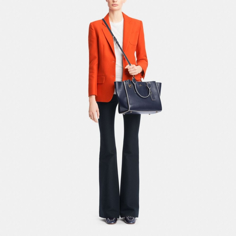 CROSBY CARRYALL IN COLORBLOCK LEATHER - Alternate View M1