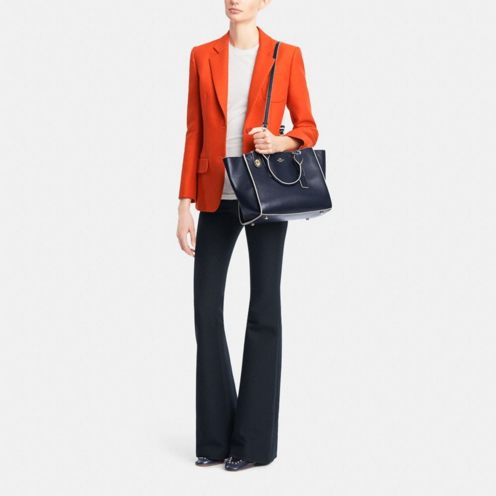 CROSBY CARRYALL IN COLORBLOCK LEATHER - Alternate View M3
