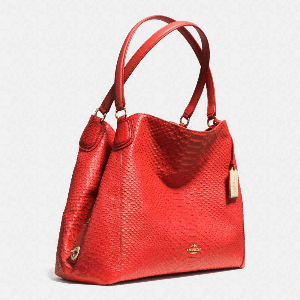 Edie Shoulder Bag in Python Embossed Leather - Alternate View A2