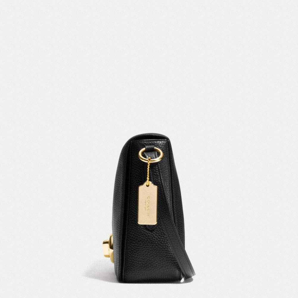 Turnlock Shoulder Flap Bag in Pebble Leather - Alternate View A1