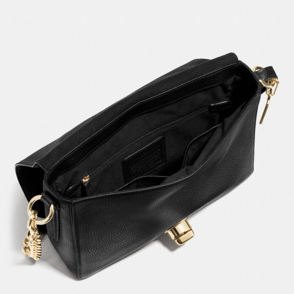 Turnlock Shoulder Flap Bag in Pebble Leather - Alternate View A3