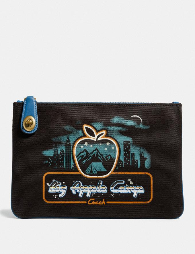 Coach Turnlock Pouch 26 With Skyline Big Apple Camp Print B4/Black PRIVATE SALE For Her Wallets & Wristlets