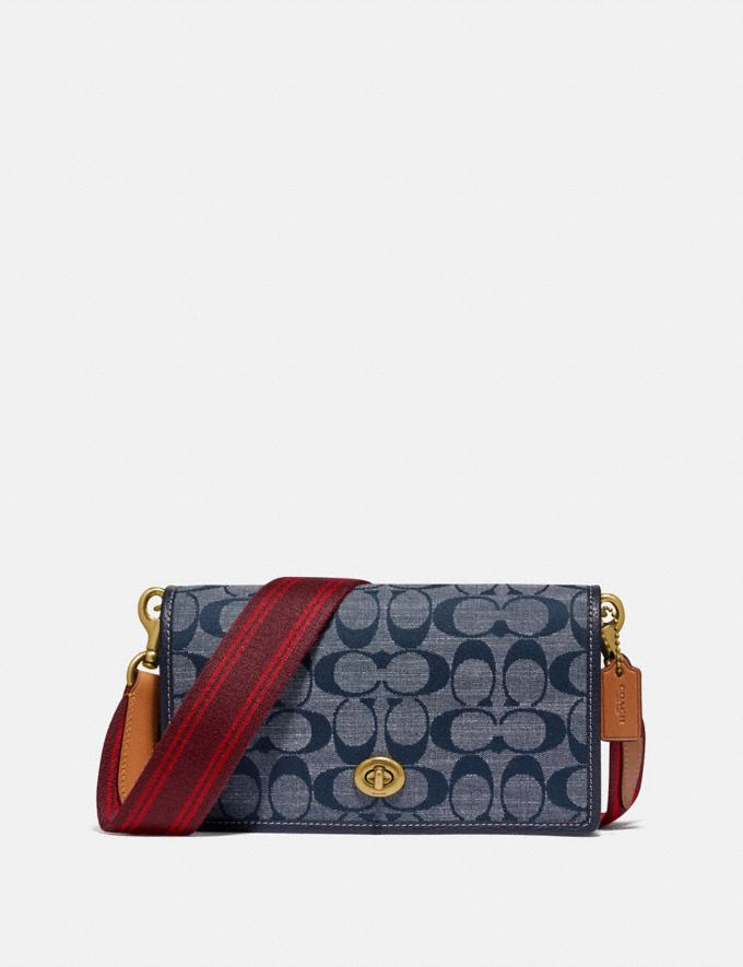 Coach Hayden Foldover Crossbody in Signature Chambray Brass/Chambray Gifts For Her