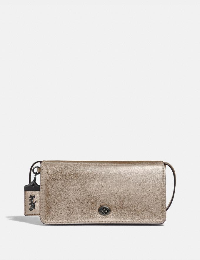 Coach Dinky Platinum/Pewter Women Bags Clutches