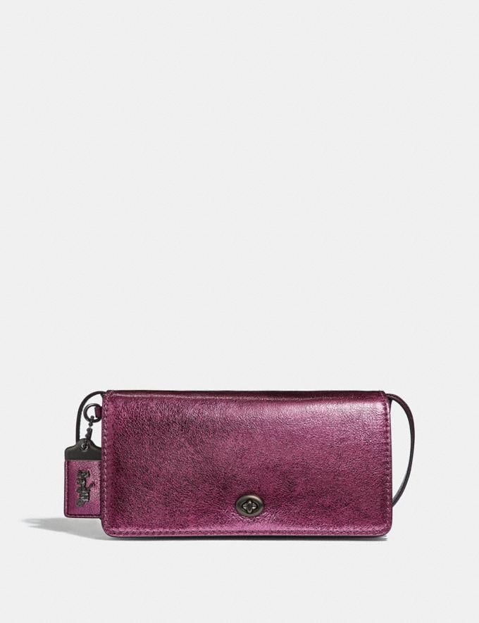 Coach Dinky Metallic Berry/Pewter Personalise Personalise It Monogram For Her