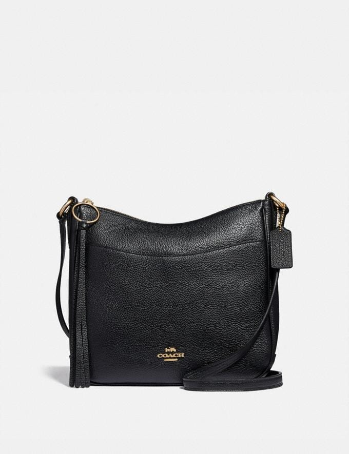 Coach Chaise Crossbody Black/Gold Cyber Monday