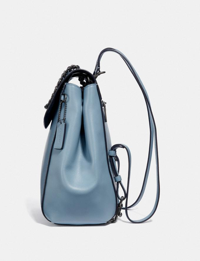 Coach Parker Convertible Backpack Black/Brass Women Bags Backpacks Alternate View 1
