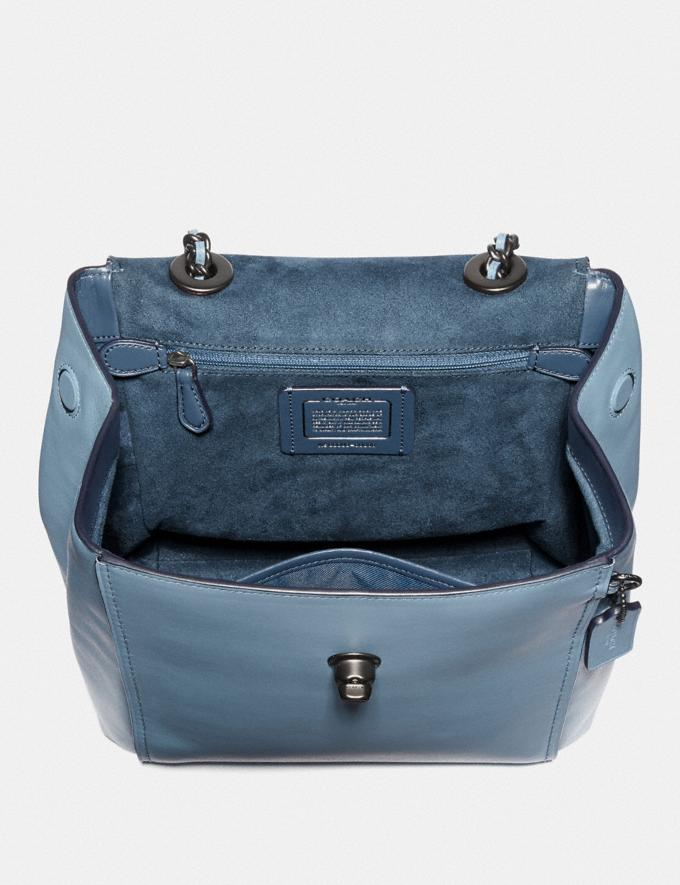 Coach Parker Convertible Backpack Black/Brass Women Bags Backpacks Alternate View 3