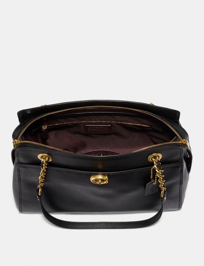 Coach Parker Carryall Black/Brass Customization Personalize It Monogram for Her Alternate View 2