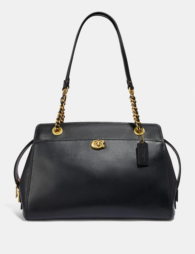 Coach Parker Carryall Black/Brass Customization Personalize It Monogram for Her