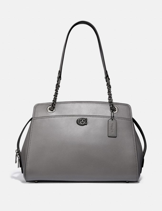 Coach Parker Carryall Heather Grey/Gunmetal Women Bags Satchels & Carryalls