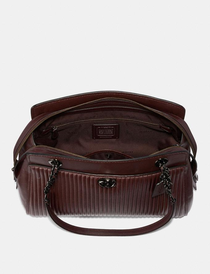 Coach Parker Carryall With Quilting Gm/Oxblood  Alternate View 2