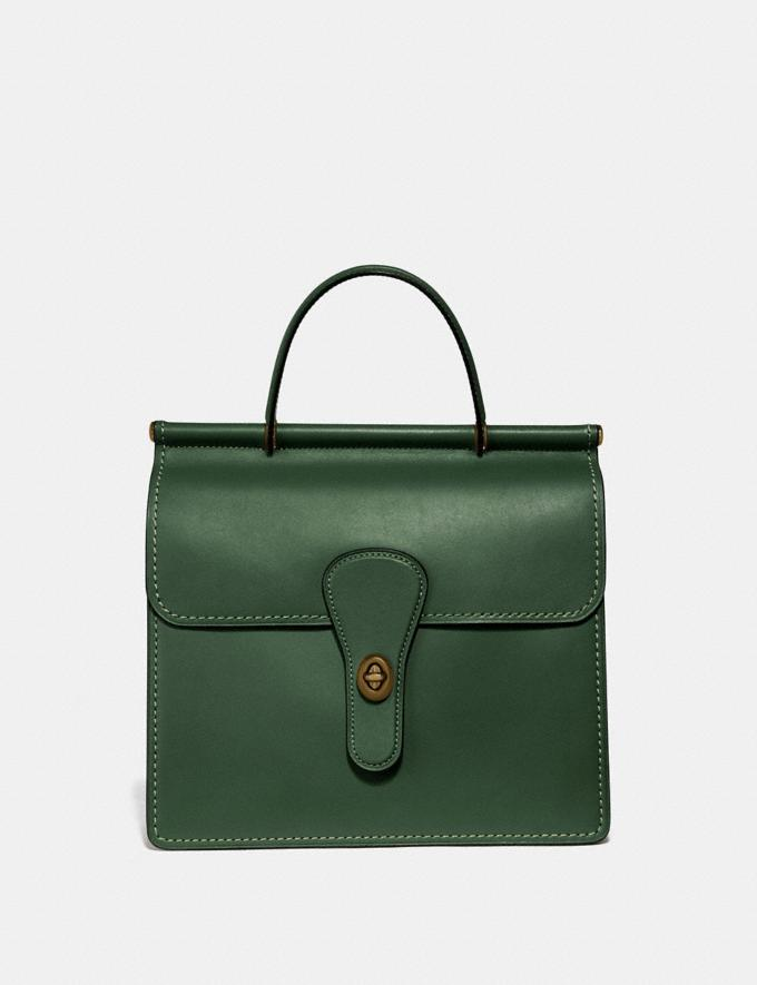 Coach Willis Top Handle Hunter Green/Brass New Featured Archival Icons