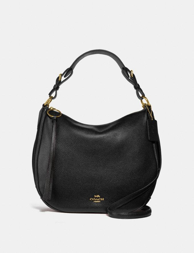Coach Sutton Hobo Black/Gold Gifts For Her