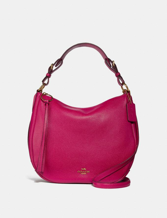 Coach Sutton Hobo Bright Cherry/Gold Women Bags Shoulder Bags