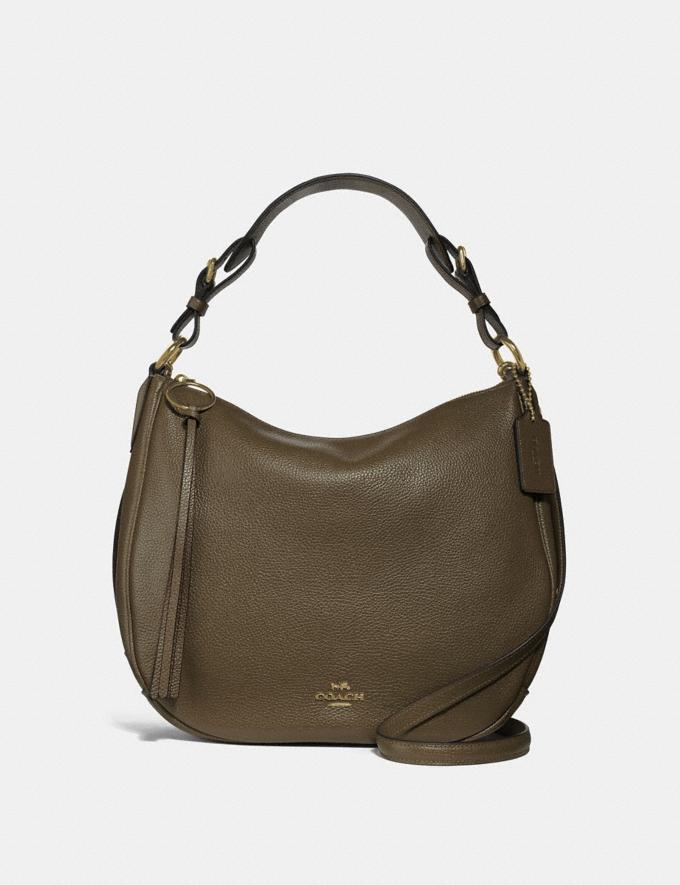 Coach Sutton Hobo Gold/Moss Seasonal Offers Women Bags