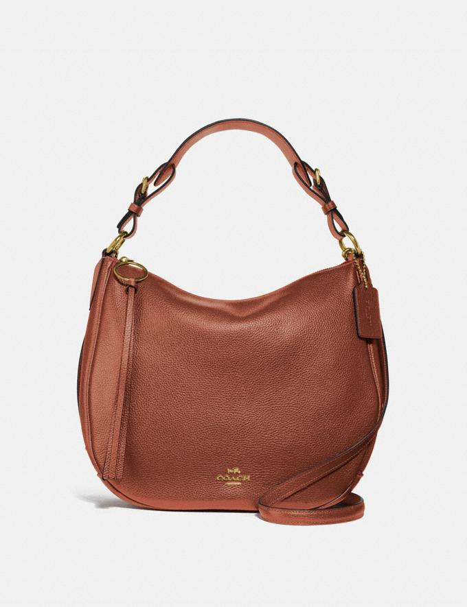 Coach Sutton Hobo 1941 Saddle/Gold SALE Women's Sale Bags