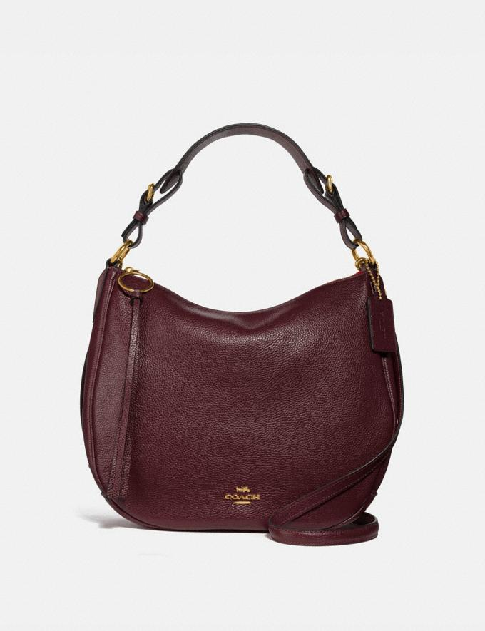 Coach Sutton Hobo Gd/Oxblood Seasonal Offers Women Bags