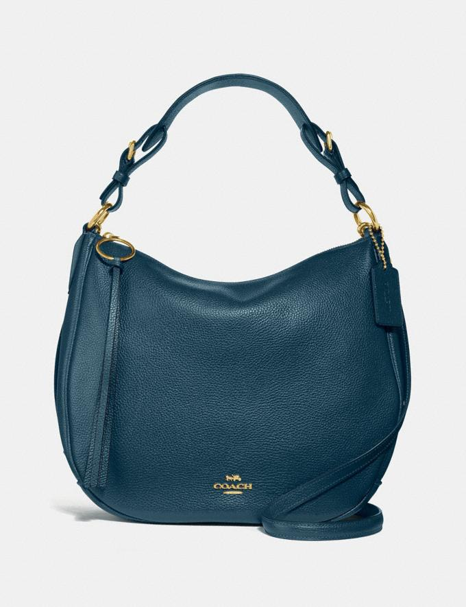 Coach Sutton Hobo Peacock/Gold Seasonal Offers Women Bags
