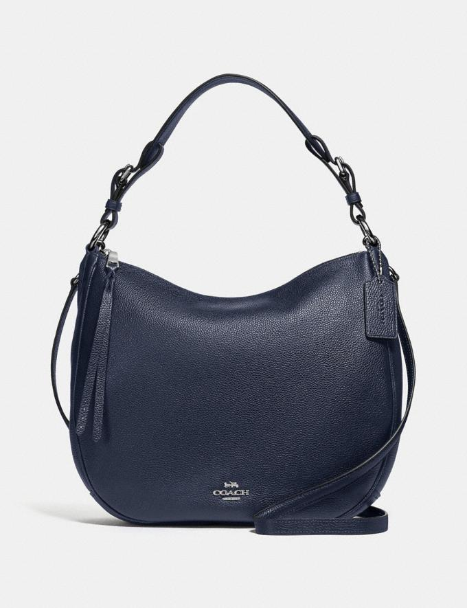 Coach Sutton Hobo Sv/Midnight Navy Seasonal Offers Women Bags