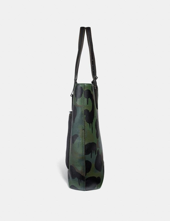 Coach Metropolitan Soft Tote With Wild Beast Print Military/Black Copper Finish SALE Men's Sale Bags Alternate View 1