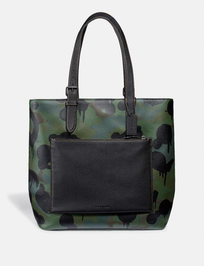 Coach Metropolitan Soft Tote With Wild Beast Print Military/Black Copper Finish SALE Men's Sale Bags