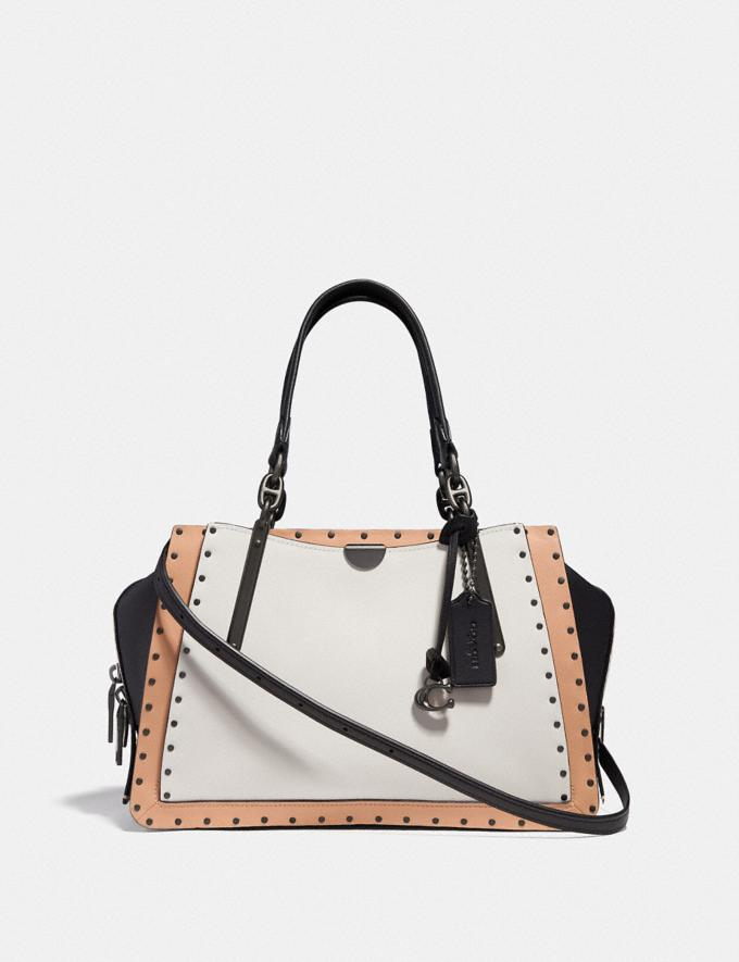Coach Dreamer With Rivets Chalk Multi/Black Copper Customization Personalize It Monogram for Her