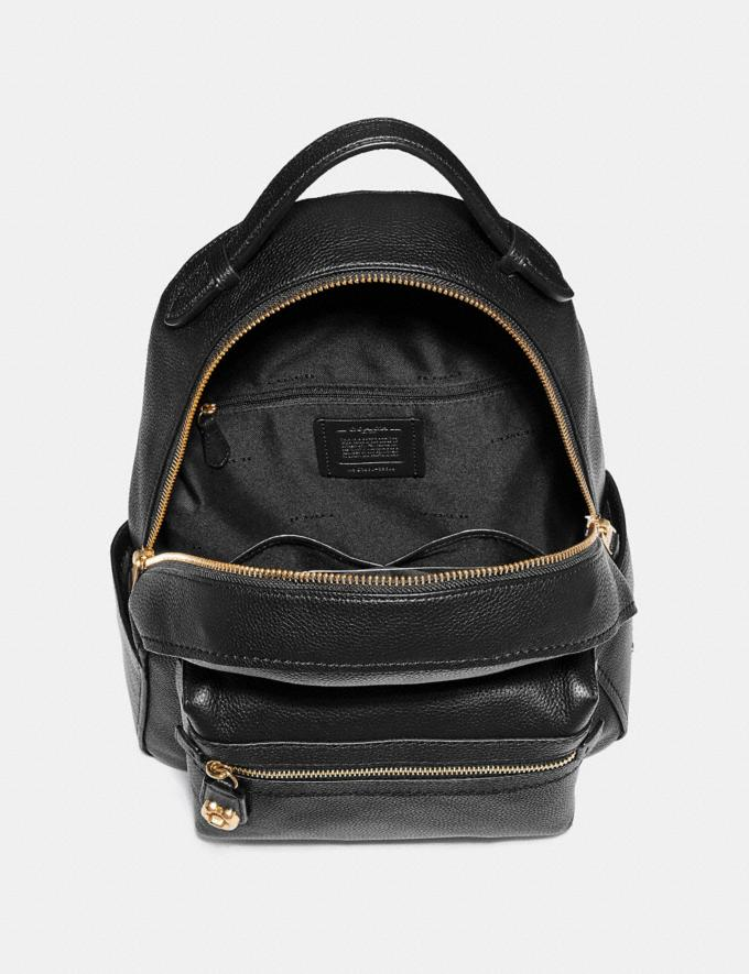 Coach Campus Backpack Black/Light Gold New Women's New Arrivals View All Alternate View 2