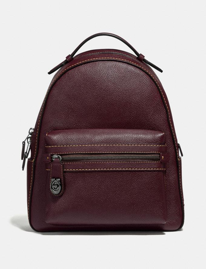 Coach Campus Backpack Oxblood/Dark Gunmetal New Women's New Arrivals View All