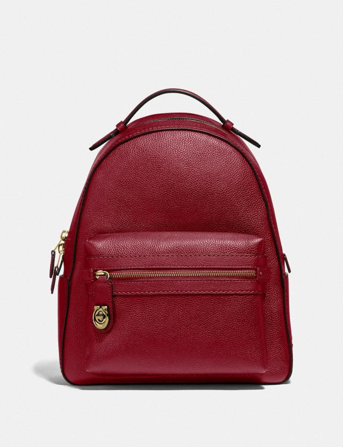 Coach Campus Backpack Black/Light Gold Women Bags Backpacks