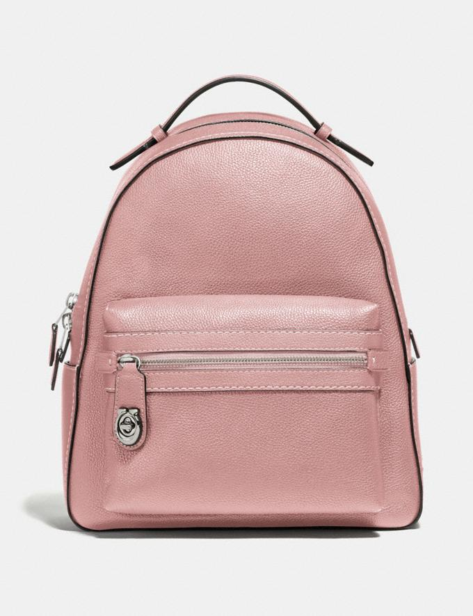 Coach Campus Backpack Blossom/Silver New Women's New Arrivals View All