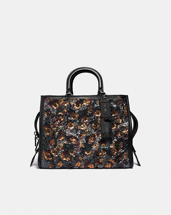 Coach Rogue With Leather Sequins