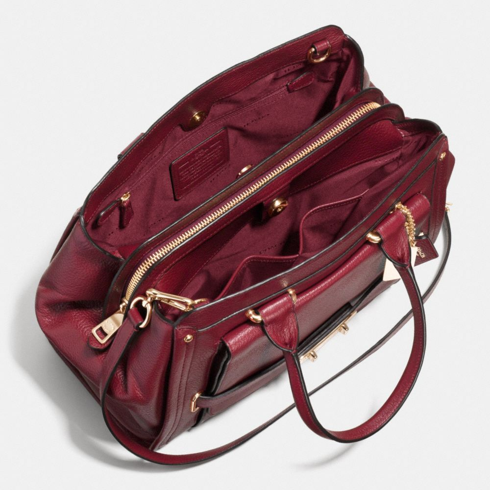 Coach Swagger Frame Satchel in Leather - Alternate View A3