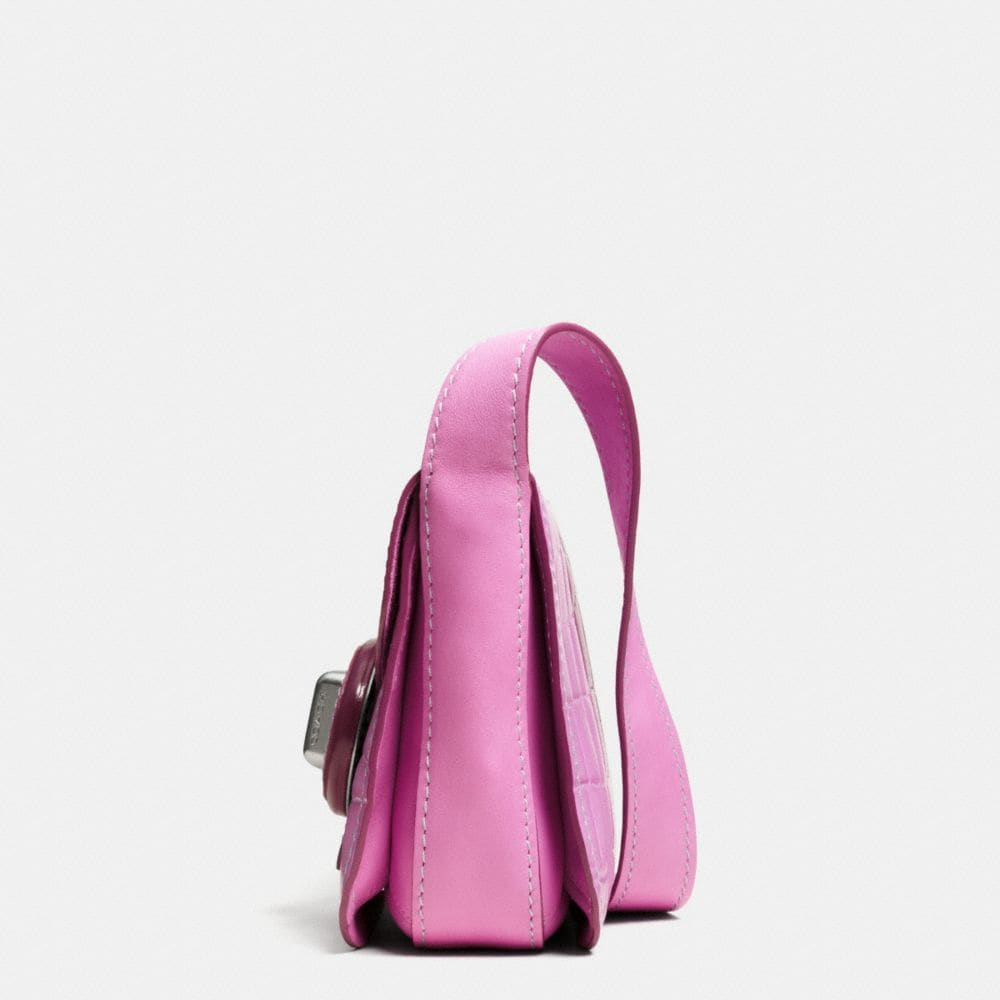 DRIFTER SHOULDER BAG IN CROC EMBOSSED PATENT LEATHER - Alternate View A1