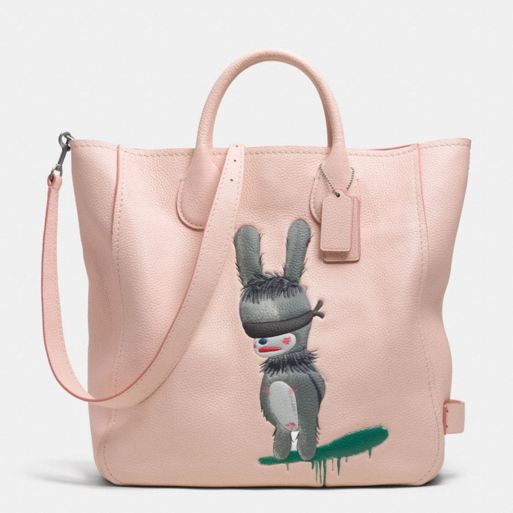 COACH X BASEMAN EMMANUEL HARE RAY TATUM TALL TOTE IN PEBBLE LEATHER