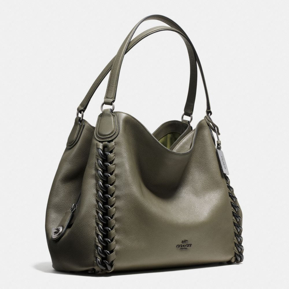 Coach Edie Shoulder Bag With Large Whiplash Alternate View 2
