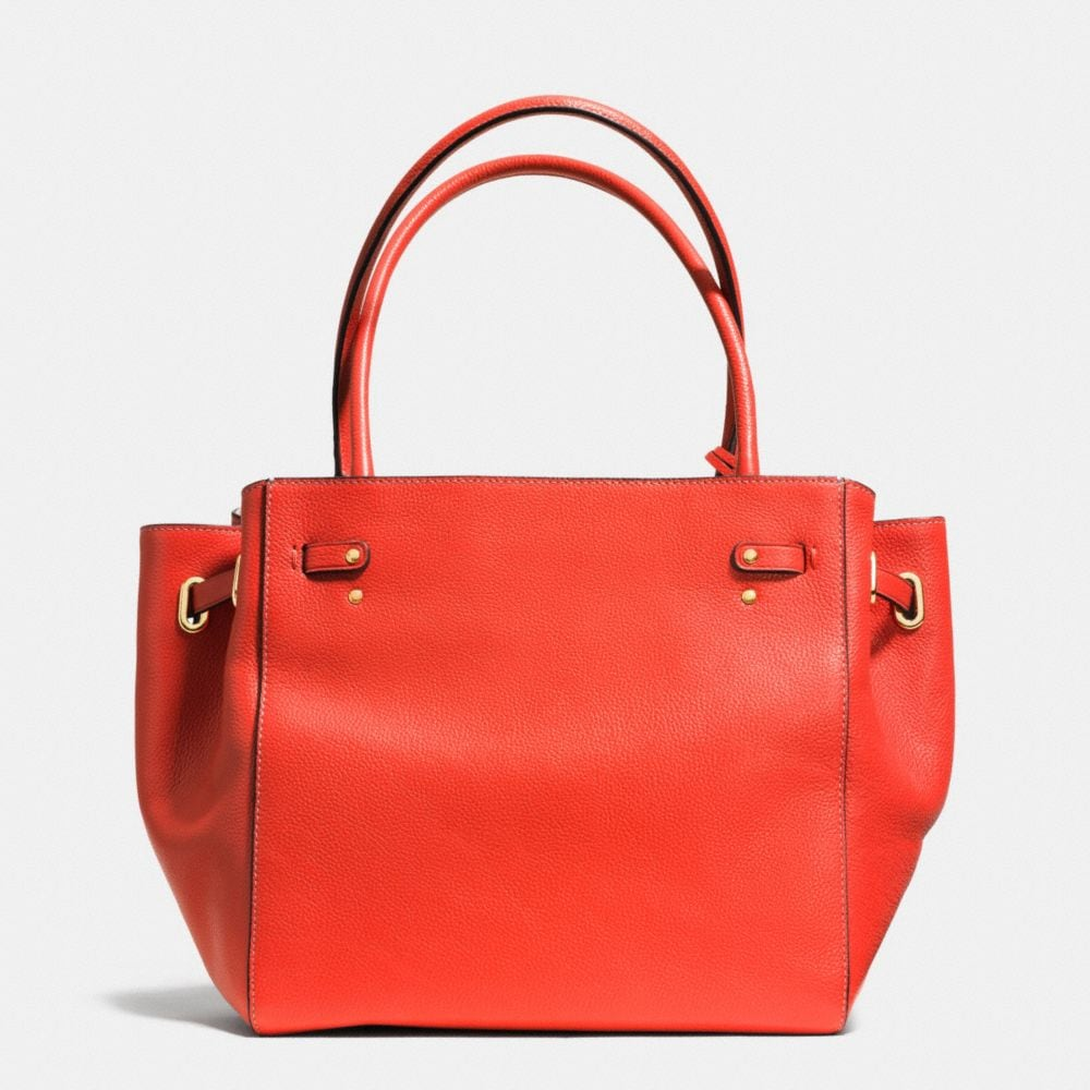 Turnlock Tie Small Tote in Refined Pebble Leather - Alternate View A3