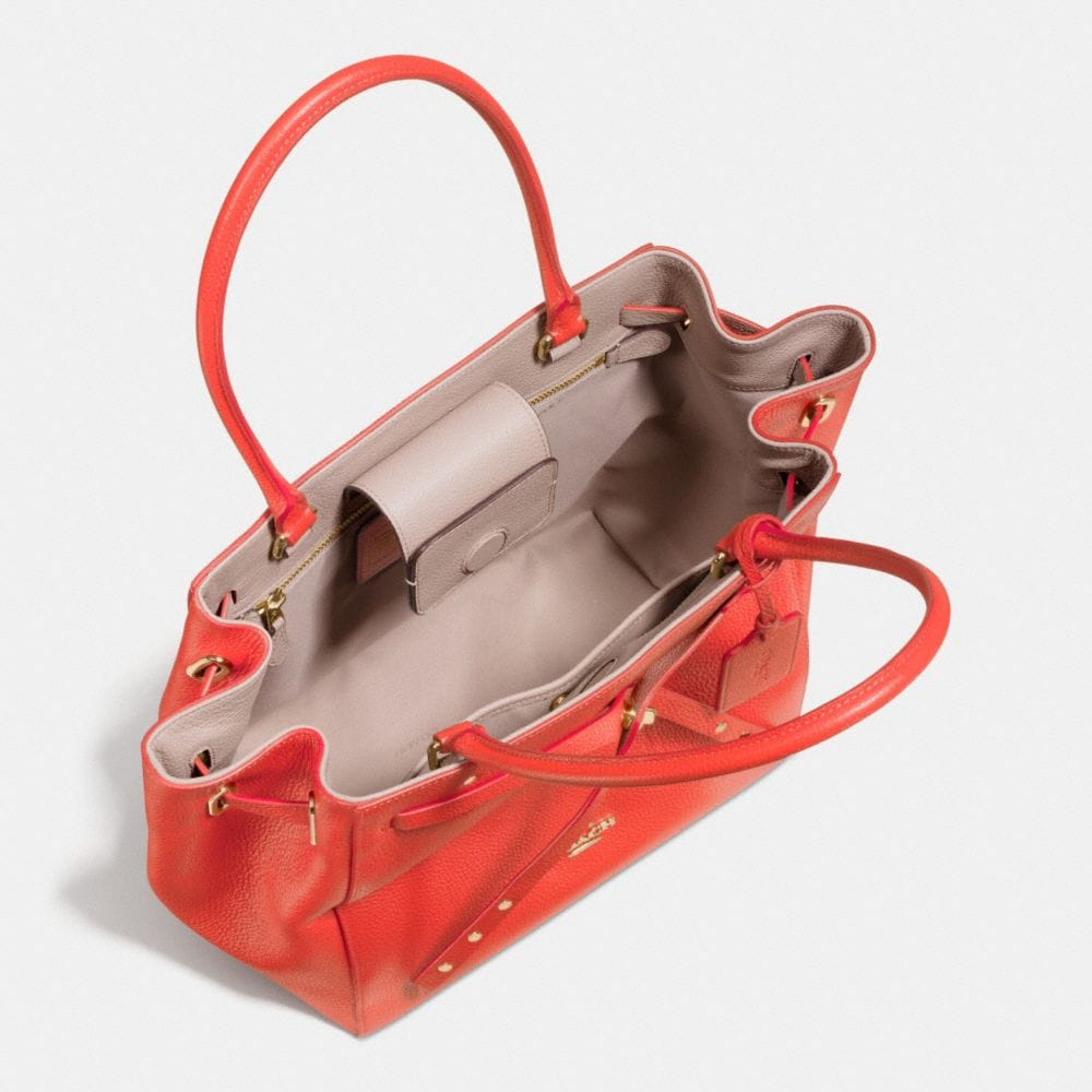 Turnlock Tie Small Tote in Refined Pebble Leather - Alternate View A4