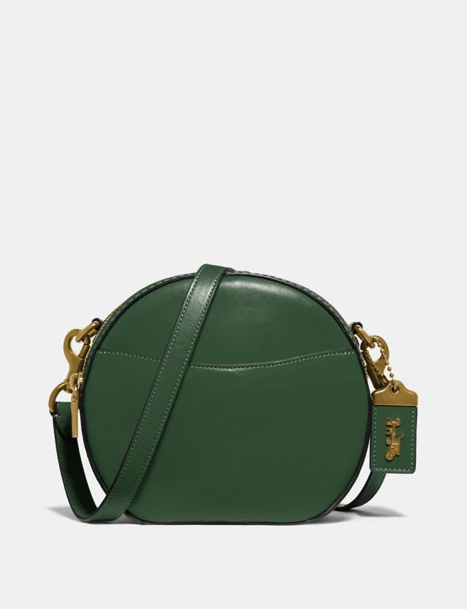 Coach Canteen Crossbody Hunter Green/Brass Women Bags