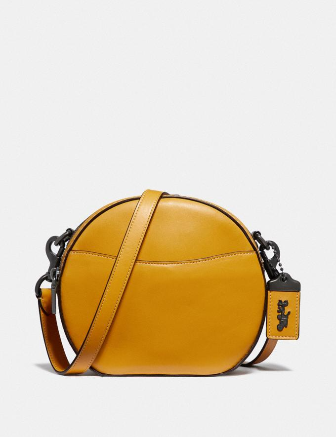 Coach Canteen Crossbody Maize/Pewter New Featured Archival Icons