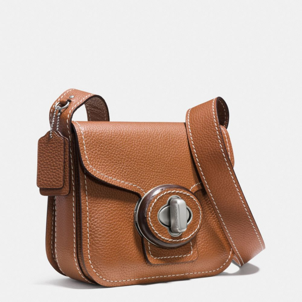 DRIFTER SHOULDER BAG IN PEBBLE LEATHER - Alternate View A2