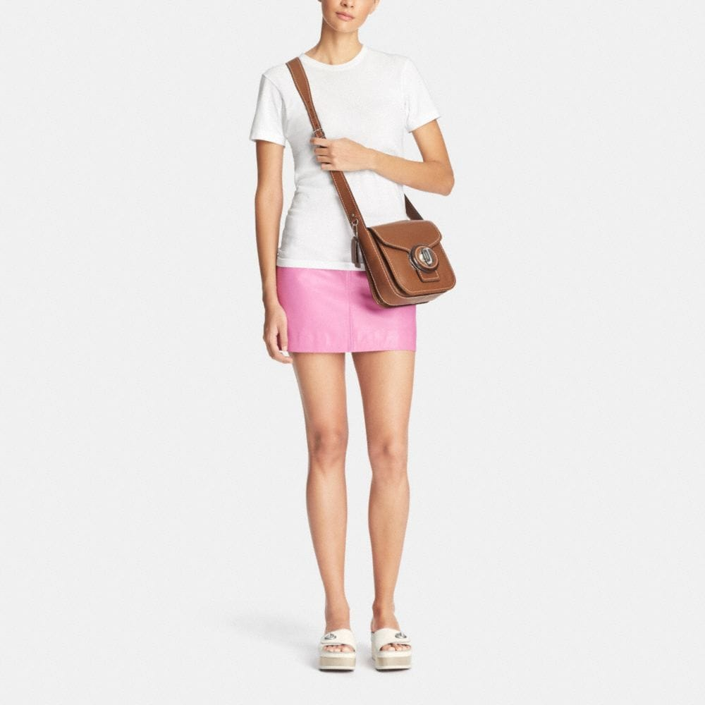 Drifter Shoulder Bag in Pebble Leather - Alternate View M1