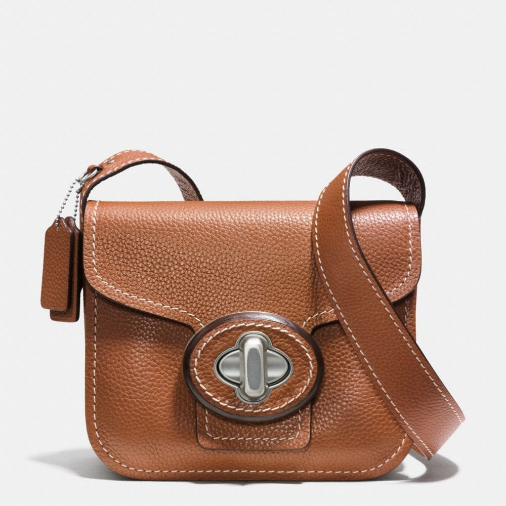 DRIFTER SHOULDER BAG IN PEBBLE LEATHER